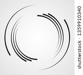 lines in circle form . spiral... | Shutterstock .eps vector #1359910340