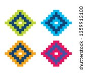 triangle pixel colorful pattern ... | Shutterstock .eps vector #1359913100