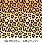 leopard print - seamless pattern - stock vector