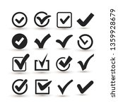 set of checkmark icon. flat... | Shutterstock .eps vector #1359928679