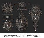 vector set of sacred geometric... | Shutterstock .eps vector #1359939020