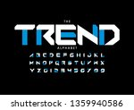 vector of stylized modern font... | Shutterstock .eps vector #1359940586