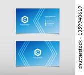 blue business card template...   Shutterstock .eps vector #1359940619