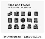 files and folder icons set. ui...