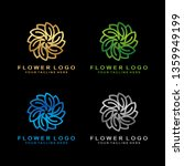 luxury flower logo design in... | Shutterstock .eps vector #1359949199