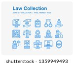 law icons set. ui pixel perfect ... | Shutterstock .eps vector #1359949493