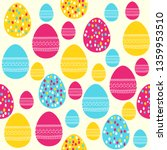 easter seamless pattern. vector ... | Shutterstock .eps vector #1359953510