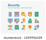 security icons set. ui pixel...