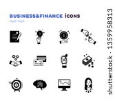 business and finance glyph icons | Shutterstock .eps vector #1359958313