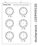 telling time telling the time... | Shutterstock .eps vector #1359959150