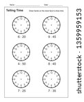 telling time telling the time... | Shutterstock .eps vector #1359959153