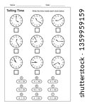 telling time telling the time... | Shutterstock .eps vector #1359959159