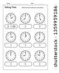 telling time telling the time... | Shutterstock .eps vector #1359959186