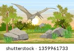 flying reptile pteranodon in...   Shutterstock .eps vector #1359961733