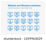 website and windows interface...   Shutterstock .eps vector #1359963029