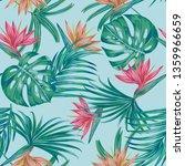 floral vector seamless pattern...   Shutterstock .eps vector #1359966659