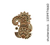 paisley isolated pattern.... | Shutterstock .eps vector #1359974660