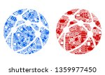 web browser mosaic icons... | Shutterstock .eps vector #1359977450