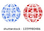 planet globe composition icons... | Shutterstock .eps vector #1359980486