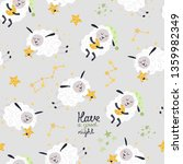 cute seamless pattern with...   Shutterstock .eps vector #1359982349