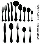 silhouettes of spoon  fork and...