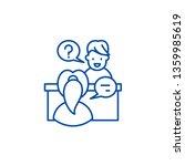 in depth interview line icon...   Shutterstock .eps vector #1359985619