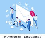 isometric mailing list or... | Shutterstock .eps vector #1359988583