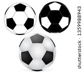 soccer ball. outline and 3d... | Shutterstock .eps vector #1359988943