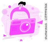 pink illustration. digital...