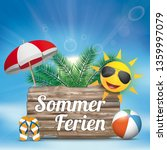 german text sommerferien ... | Shutterstock .eps vector #1359997079