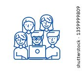 friends looking at notebook... | Shutterstock .eps vector #1359999809