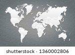 world map  paper art vector   Shutterstock .eps vector #1360002806