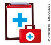 medical order checklist and... | Shutterstock .eps vector #1360003313