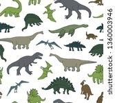 dinosaur vector seamless pattern | Shutterstock .eps vector #1360003946