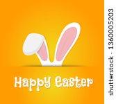 easter rabbit  easter bunny | Shutterstock .eps vector #1360005203