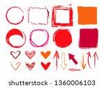 crayon graphic elements... | Shutterstock .eps vector #1360006103