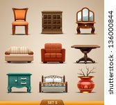 furniture icons set 5 | Shutterstock .eps vector #136000844
