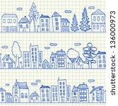 Houses Doodles On School...
