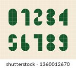 abstract numbers made of simple ... | Shutterstock .eps vector #1360012670