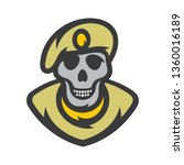 skull soldier vector cartoon... | Shutterstock .eps vector #1360016189