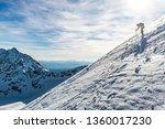 skitouring in tatra mountains ... | Shutterstock . vector #1360017230