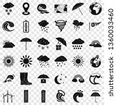 bad weather icons set. simple... | Shutterstock .eps vector #1360033460
