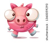 cute pig character   cartoon... | Shutterstock .eps vector #1360059293
