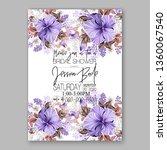 tropical hibiscus bouquet bride ... | Shutterstock .eps vector #1360067540
