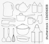 Vector Set Of Kitchen Tools....