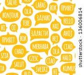 seamless pattern with speech... | Shutterstock .eps vector #136006814