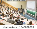 defocused image of audience at... | Shutterstock . vector #1360070639