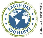 earth day text rubber stamp...   Shutterstock . vector #1360071056