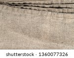 linen fabric with double seam.  ... | Shutterstock . vector #1360077326