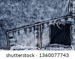 destroyed torn ripped denim... | Shutterstock . vector #1360077743